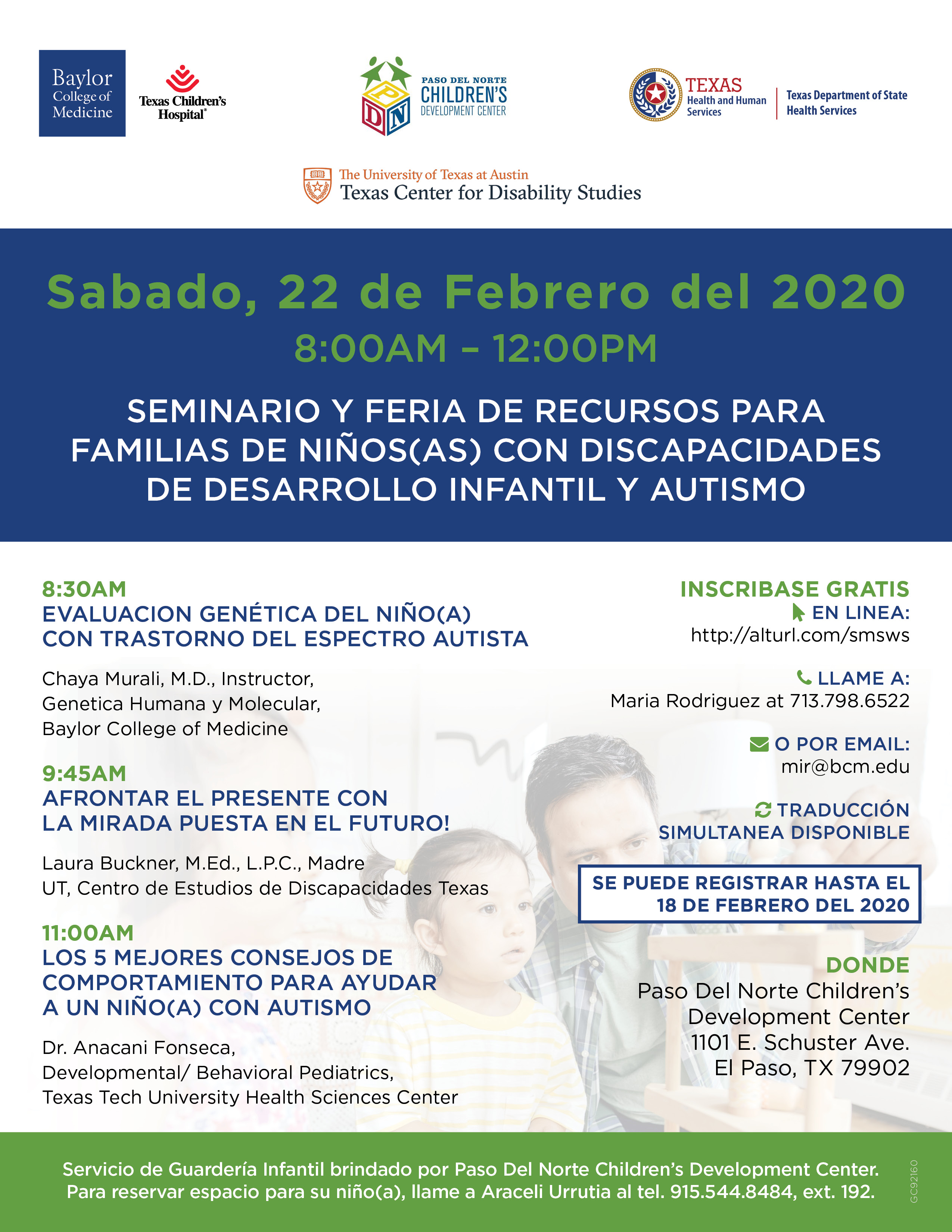 Photo of Genetic Conference translated in Spanish