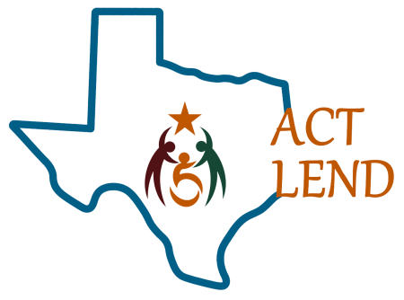 LEND logo of a Texas outline and three figures inside holding hands around a star