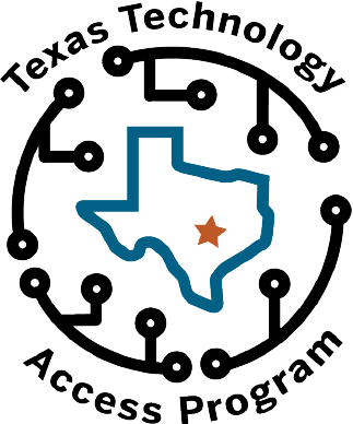 New TTAP logo with a circuits encircling the shape of Texas with a star over Austin, TX.
